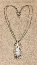 Silver Spoon co. Fork/cameo 925 Necklace