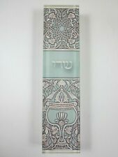 Small Mezuzah Acrylic OPAL GOBLET w NON Kosher Scroll 4""