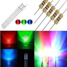 5 diodi led 5 mm RGB CATODO comune alta luminosità + resistenze OMAGGIO