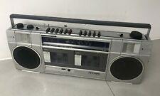 Sanyo M-W1L Stereo Cassette Recorder Vintage 80s Boombox Ghetto Blaster Portable