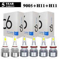 3Set 9005+H11 LED Headlight+H11 Fog Light For Toyota Camry 07-14 Sienna 11-18