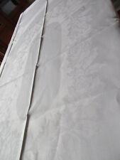 schöne alte Halbleinen Tischdecke Tafeltuch Rosen 200 x 150 cm
