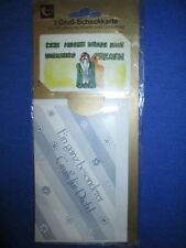 1 Gruß-Scheckkarte mit Glückwunschkarte und Umschlag  von HORN