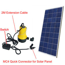 Solar Powered Submersible Water Pump Pond W/ 160W Solar Panel Watering Washing