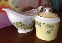 Laure Japy ~ Paris ~ De Limoges ~ Porcelain Cream & Sugar Set ~ Made In France