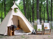 AU Ship Canvas Camping Pyramid Tipi Tent Adult Indian Teepee Tent for 2~3 Person