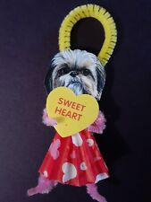 Vintage Victorian Inspired Shih Tzu Valentines Ornament or Gift Tag