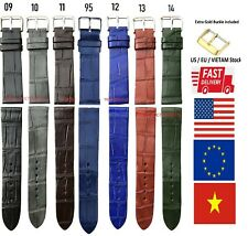 Genuine Crocodile Alligator Leather Skin Watch Strap Band NO PADDING 20 22 24mm
