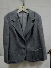 "Ladies Custom tailored ""Blue Mist"" registered HarrisTweed two piece suit Size 14"