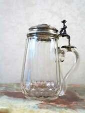 Austrian Crystal Beer Mug wit Silver Cup