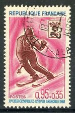 STAMP / TIMBRE FRANCE OBLITERE N° 1547 SPORT / JEUX OLYMPIQUES GRENOBLE