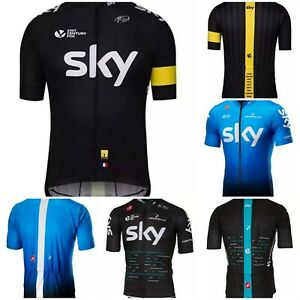 NEW Short Sleeve Men's SKY CYCLING Jersey Breathable 3 Nice Designs