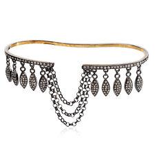 Designer Palm Bracelet Jewelry Pave DiamondGold Sterling Silver