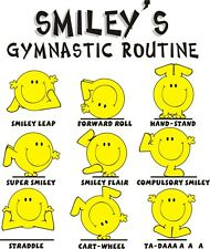 Smiley Gymnastic routine t-shirt clothing