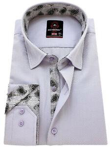 RICHBERRY Men's cotton Shirt Classic collar Formal Casual Long sleeve Regular