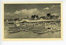 Fishing Boats in PARAMARIBO Rare Vintage SURINAME Postcard ca. 1940s