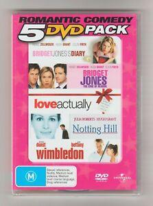 Bridget Jones Diary/The Edge Of Reason/Love Actually/Notting Hill/Wimbledon DVD