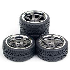 1:10 RC 4Pcs Racing Rubber Tire Wheel Rim Set For HSP HPI On Road Car PP0038/150