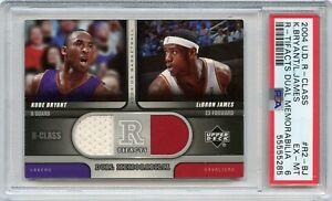 2004 UD R-Class Kobe Bryant/LeBron James R-Tifacts Dual Memorabilia #R2-BJ PSA 6