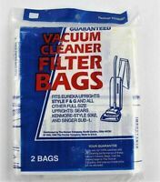 Hoover Style F & G Series Upright Vacuum Cleaner Filter Bags, 2 Pack #40100501