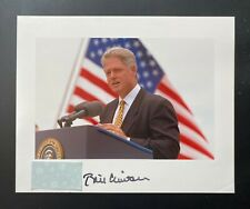 White House President Bill Clinton Hand Signed/Autographed Color 8 x 10 Photo
