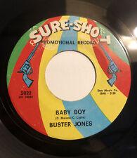 "BUSTER JONES ~ BABY BOY ~ SURE-SHOT RECORDS ""PROMO"" ~ Orig. '66 Northern Soul"