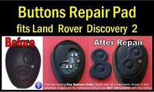 fits Land Rover Discovery 2 Td5 Remote fob - 2 key Buttons Repair Pad (1 set)