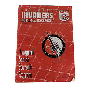 Columbus Invaders Professional Indoor Soccer Inaugural Season Program 11-1-96