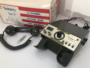 "🔥 RARE 1976 Teaberry Tele ""T"" CB Radio 23 Channel Citizens Band Two Way Radio"