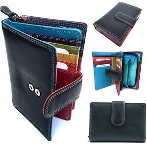 RFID Protected Ladies 7-144: Golunski Leather Multi Coloured Purse/Wallet