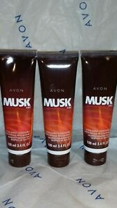 Avon Musk FIRE After Shave Conditioner 3.4 Lot of 3
