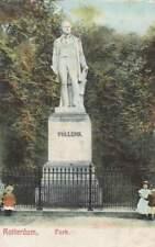 Ansichtkaart Nederland : Rotterdam - Park met Standbeeld Tollens (bd251)