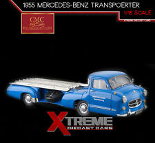 "CMC M-143 1:18 1954/55 MERCEDES-BENZ RACE CAR TRANSPORTER ""THE BLUE WONDER"""