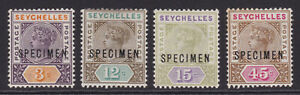Seychelles. 1893. SG 22s to 25s, 3c to 45c specimens. Fine mounted mint.