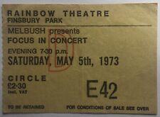 Focus Original Genuine Used Concert Ticket Rainbow Theatre London 1973