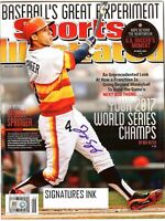 WS MVP George Springer SIGNED 6/30/14 Sports Illustrated reprint 8 x10 photo
