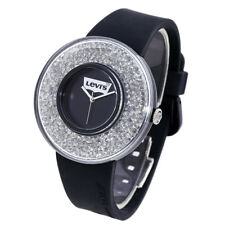 LEVI'S TIME LTH0506 CORE Women's Analog Watch Swarovski Silicone Strap Black