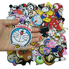 Wholesale 40 pcs Anime Patch Kids Cute Cartoon Embroidered Iron ON Patch random