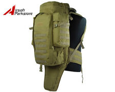 Molle Tactical Airsoft Military Outdoor Rifle Gun Carrying Case Bag Backpack Tan