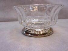 Vintage KIG Indonesian Glass Bowl With Sterling Silver Plated Base *MINT*