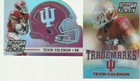 2 2015 Panini Collegiate Draft Picks Tevin Coleman Rookie RC Silver Prizm Lot