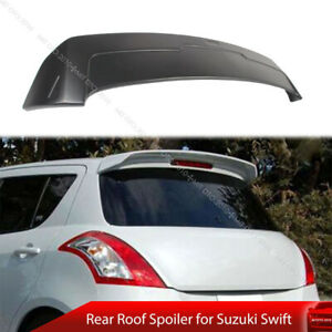 Paint Rear Roof Spoiler Fit For Suzuki Swift 3rd AZG 11-17 5D D Style