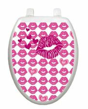 Valentine Toilet Tattoos KIss  Hot Lips  Lid Decor  Vinyl Reusable