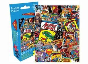 100 piece DC Comics Universe Retro SUPERMAN Comic Cover Collage Puzzle Licensed