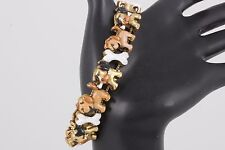 GOLDTONE DOGS & DOG BONES BRACELET FASHION 4186B