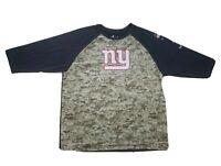 Nike DriFIT NFL Salute To Service NY Giants 3/4 Sleeve Digial Camo Tee Shirt XXL
