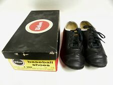 Vintage Wilson Leather Baseball Shoes Cleats Size 5.5 With Box (A10)