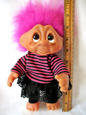 """Thomas Dam Troll Girl - Adopt a Norfin - Purple Hair - 9"""" - NEW Without Tag"""