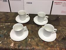 4 Vintage J & G Meakin STERLING Colonial Ironstone Scalloped Cup & Saucer Sets
