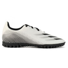 Adidas Men's X Ghosted.4 Cloud White/Core Black/Silver Metallic Turf Soccer S...